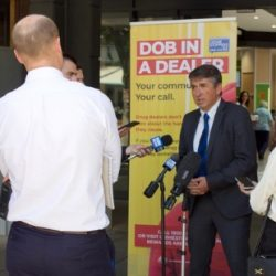 ACT Policing Detective Sergeant delivers a media address about Dob in a Dealer in Canberra.