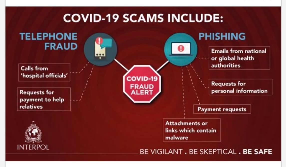 Beware of COVID-19 Scams